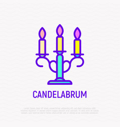candelabrum thin line icon vector image