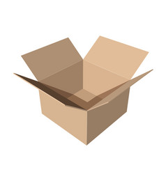 cardboard paper box on white background vector image