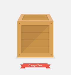cargo wood box vector image