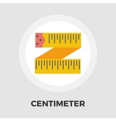 Centimetr flat icon vector image vector image