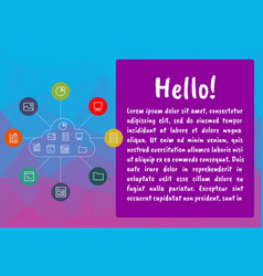 cloud computing concept infographic template vector image