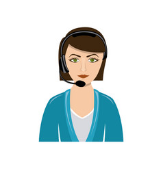 Color people woman technological services icon vector