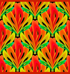 Colorful ornamental floral 3d seamless pattern vector