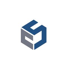 Creative letter cs letter logo vector