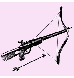 Crossbow and arrow vector