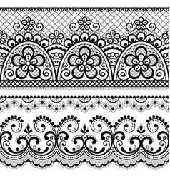 Decorative vintage lace seamless pattern vector