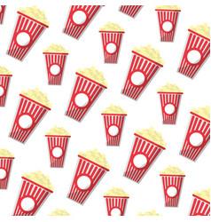 Delicious snack popcorn food background vector