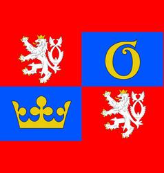 Flag hradec kralove region in czech republic vector