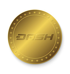 golden dash coin vector image
