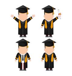 Graduation cap boy graduate university icon vector