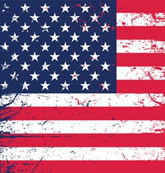 grunge american flag background 1606 vector image