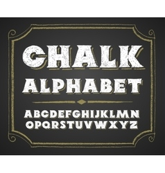 Hand drawn alphabet on chalkboard vector
