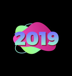 happy new year 2019numeral 2019 colorful 2019 vector image