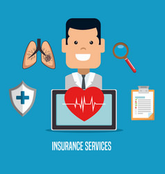 health insurance service concept vector image