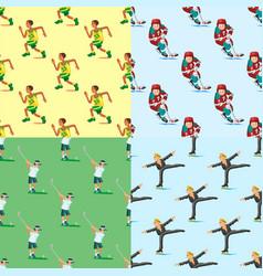 health sport seamless pattern background wellness vector image