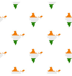 Indian map pattern seamless vector