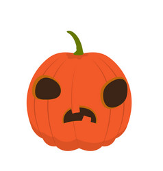 Isolated confused halloween pumpkin vector
