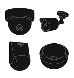 Isolated object of cctv and camera logo vector