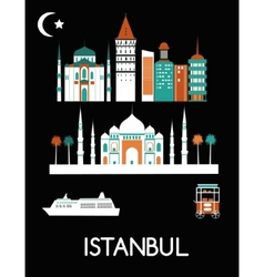 Istanbul city vector image