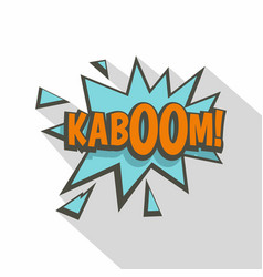 kaboom comic text sound effect icon flat style vector image