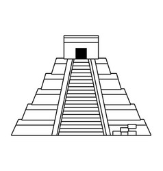 Kukulkan pyramid design vector