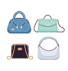 ladies bags handbags women with fashion vector image
