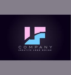Lf alphabet letter join joined letter logo design vector