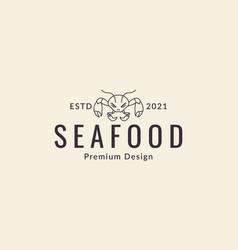 Lines art cartoon crabs angry logo design icon vector