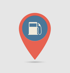 map pin fuel station vector image
