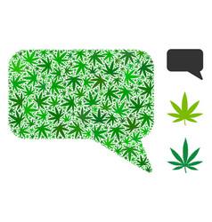 Message cloud collage of marijuana vector