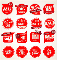 modern badges stickers and labels collection 3 vector image