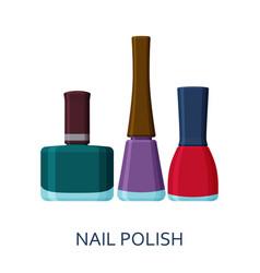Nail polish set cosmetic icons collection vector