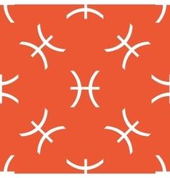 Orange Pisces pattern vector