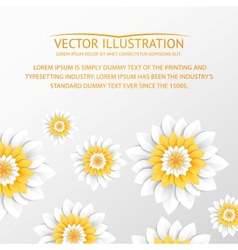 Paper flowers postcard vector image