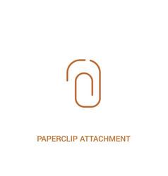paperclip attachment concept 2 colored icon vector image
