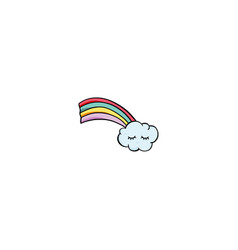 rainbow cloud icon vector image