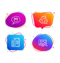 Recycle gift dream and payment icons set seo vector