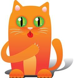 Red cat vector