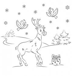 Reindeer rudolf vector