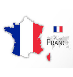 republic of france flag and map vector image