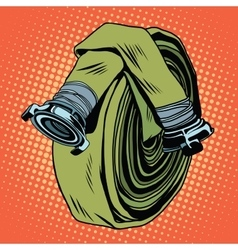 Retro green fire hose vector image