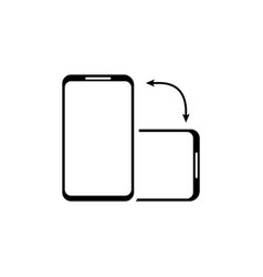 Screen rotation for mobile app design isolated vector