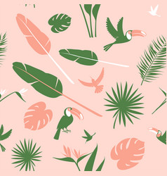 seamless floral pattern background tropical vector image