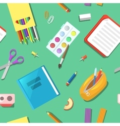 Seamless Pattern with Education Elements vector image