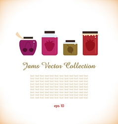 Set of jams icon vector image