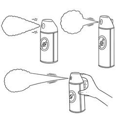 set of pest killer spray vector image