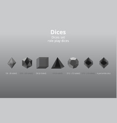 Set transparent realistic diy d20 dices rpg vector