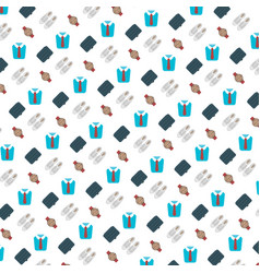 shopping icons seamless pattern mens fashion vector image