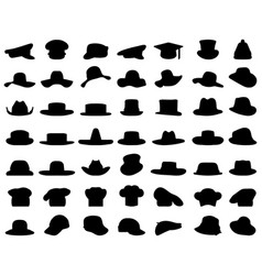 silhouettes caps and hats vector image