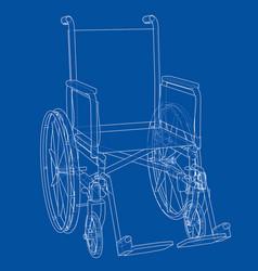 Sketch of wheelchair vector